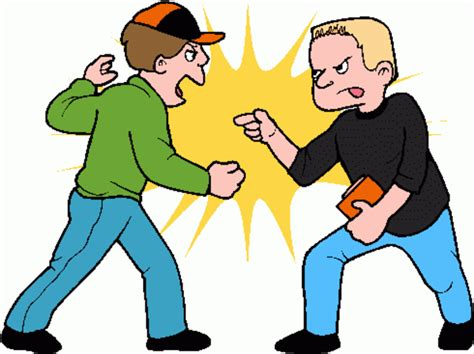 Fighting Clipart Boy Friends Clip Fighting Free Images At Clker
