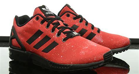 adidas zx flux red galaxy   nice kicks