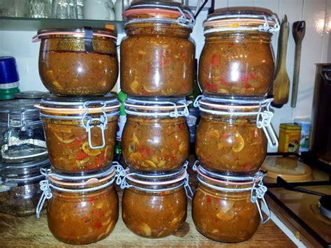 le potager d andr 233 e 2013 oct 21 conserve de goulash de boeuf aux chignons paprika