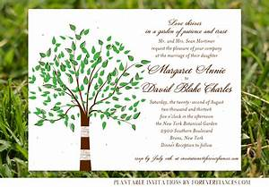 tree themed wedding cards on seeded paper green tree by With wedding cards with trees