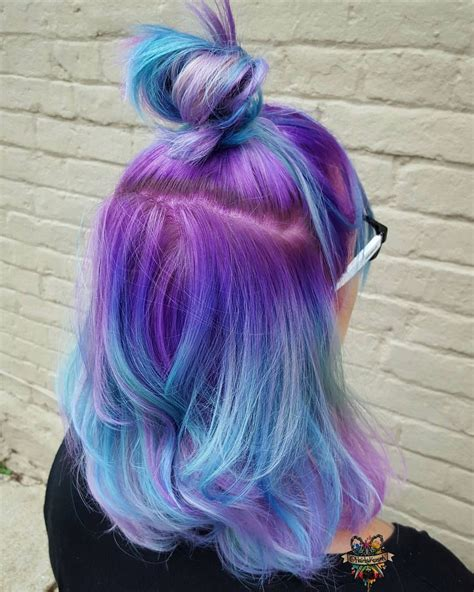 Purple Blue Ombré Hair Instagram Photo By Hairbykaseyoh