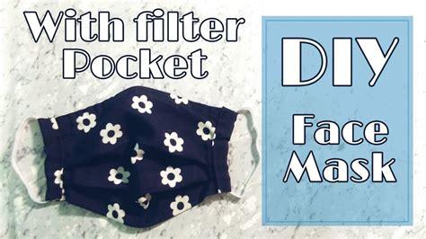 easy diy face mask  filter pocket  sewing machine