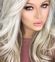 Girl with Platinum Blonde Hair