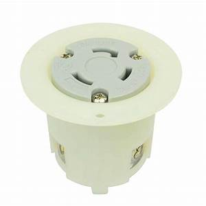 Twist Lock Flange Receptacle 3 Wire  30 Amps  125v  Nema