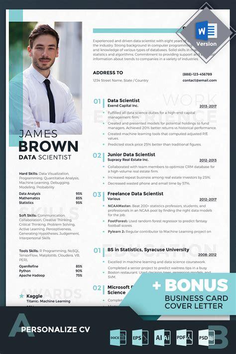 james brown data scientist resume template