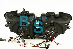 Rainbow Angel Eyes Hid Projector Headlight Assembly Fit