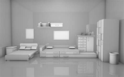 Kids Room Interior Free 3d Model Obj C4d  Cgtradercom