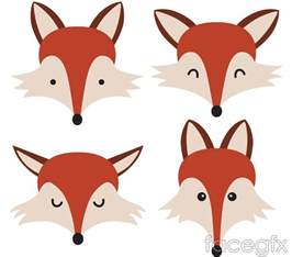 Cartoon Fox Head Vector