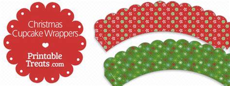 christmas cupcake wrappers printables printable