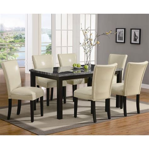 carter dining room set  cream chairs coaster furniture
