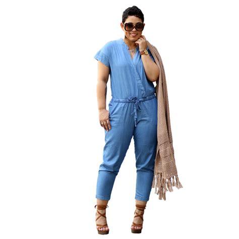 plus size denim jumpsuits denim jumpsuits plus size 2016 summer