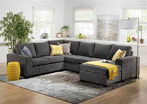 Danielle 3 piece sectional with right facing corner wedge for Mason grey sectional sofa