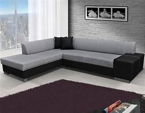 Canapé Avec Rangement : canap noir et gris avec coffre de rangement ~ Teatrodelosmanantiales.com Idées de Décoration