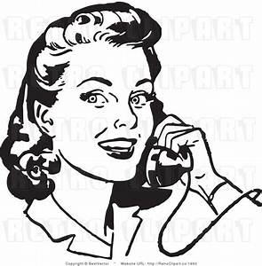 Woman Talking On Phone Clipart - ClipartXtras