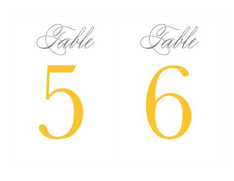 printable table numbers  wedding templates