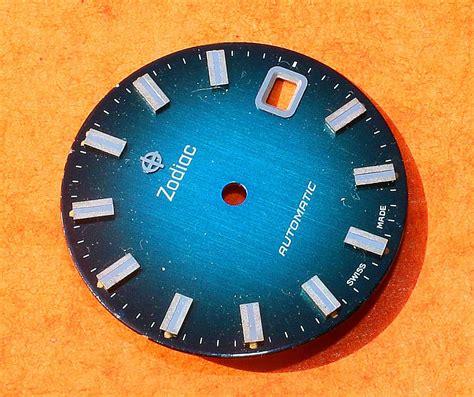 vintage original zodiac automatic deep shades blue wrist