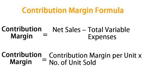contribution margin formula calculator excel template