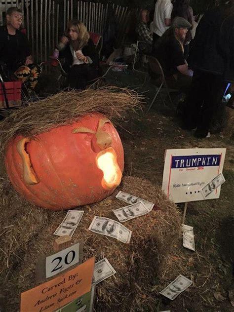 pumpkin trump funny carvings trumpkins donald pumpkins craze present latest source