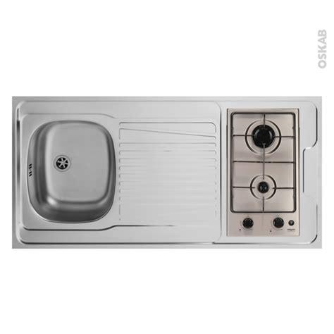 bonde pour evier de cuisine bloc évier pour kitchenette plaque de cuisson gaz l120 x