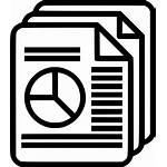 Report Document Clipart Icon Summary Svg Chart