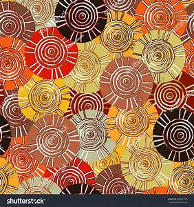 Circular, Tribal Pattern With Motifs Of African Tribes ...