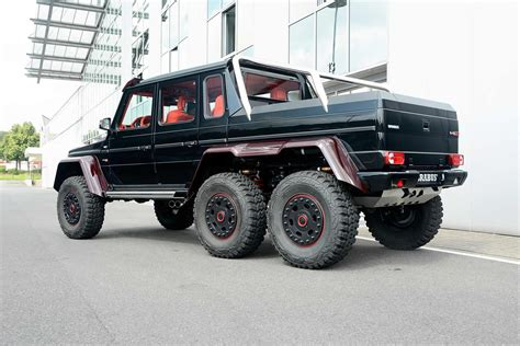 Mercedes 6x6 pickup truck (page 1). Brabus Mercedes-Benz G63 AMG 6x6 Now Sports Red Carbon Fiber, For Middle East - autoevolution