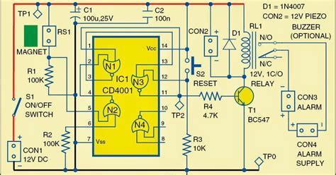 Security Wiring Schematic by Locker Security Alarm Wiring Diagram Schematic Diagram