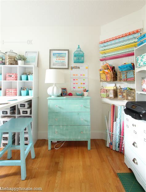 home craft room ideas how to organize a craft room work space the happy housie 4689