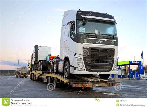 new volvo semi truck new volvo fh trucks transported on a semi trailer