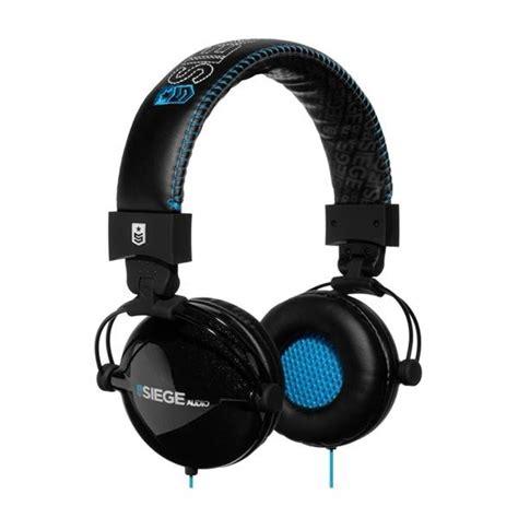 siege adeo black blue division casque audio siege audio black blue