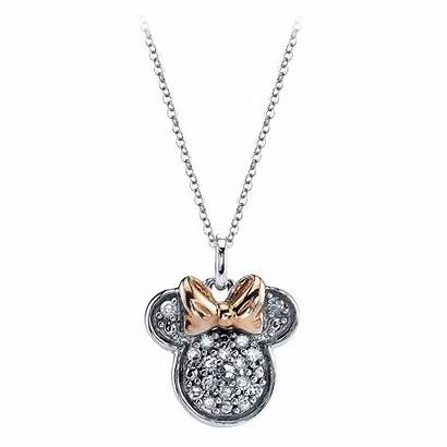Minnie Mouse Necklace Icon Diamond Sterling Shopdisney