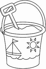 Shovel Bucket Coloring Pail Kleurplaat Spade Fun Ausmalbilder Popular sketch template