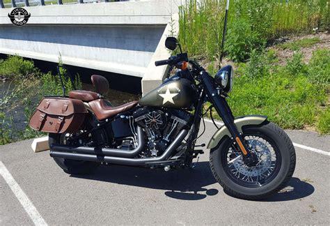 Harley Softail Slim Viking Odin Brown Large Motorcycle