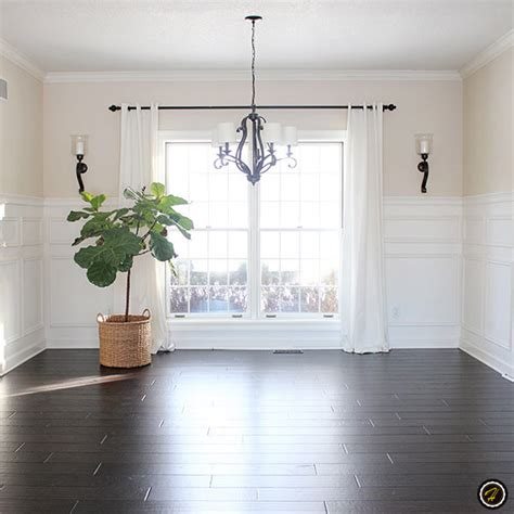 Dark Hardwood Floors & Light Walls  Home Design Dark
