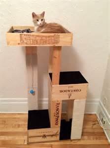 cat crates 15 ways to diy with wine crates