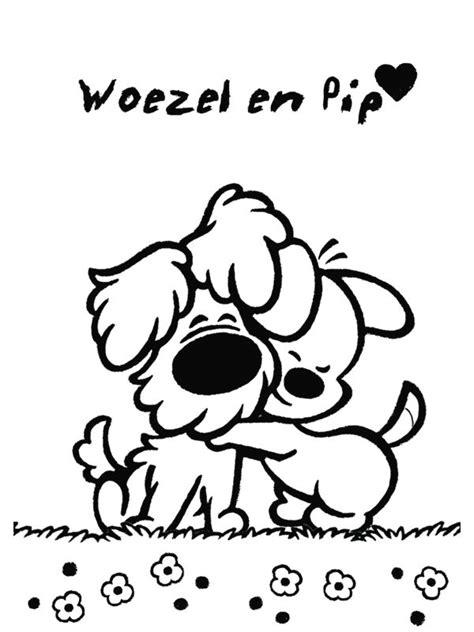 Kleurplaat 1 Jaar Woesel En Pip by 25 Beste Idee 235 N Hond Tekeningen Op