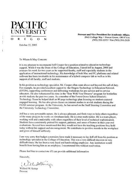 good reference letter  teachers letter