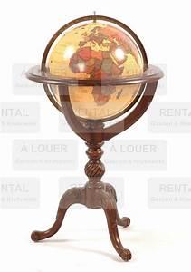 Globe Terrestre En Bois : globe terrestre structure en bois gascon krukowski ~ Teatrodelosmanantiales.com Idées de Décoration