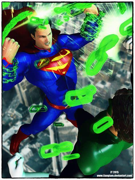 green lantern vs superman superman vs green lantern by tiangtam on deviantart