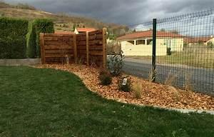 Palissade De Jardin : amenagement bois jardin abri de jardin bois paysagiste ~ Melissatoandfro.com Idées de Décoration