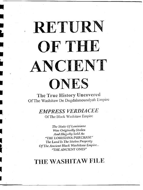 01 Return of the Ancient Ones - The Washitaw Files
