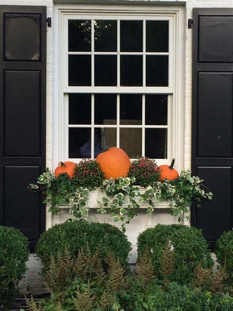 pin  jennifer demar  decorating fall window boxes