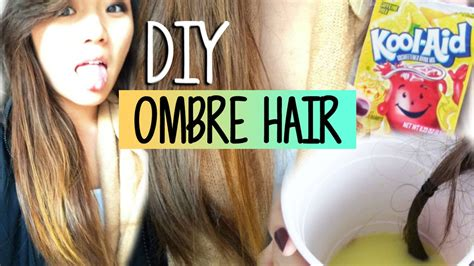 Diy Ombre Hairhighlights With Kool Aid Youtube