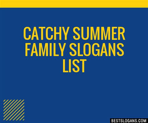 30+ Catchy Summer Family Slogans List, Taglines, Phrases