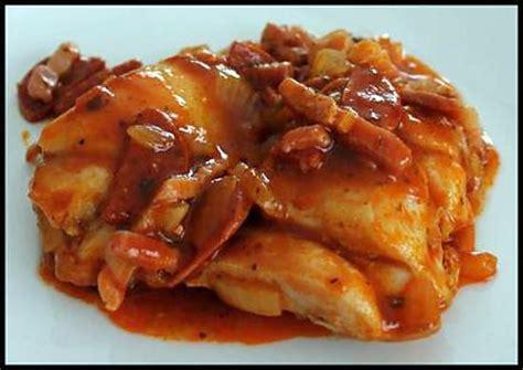 recette de cuisine cuisse de poulet recette de sauté de poulet au chorizo et sauce tomate
