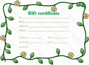 blank gift certificate template - Gift Certificate Templates