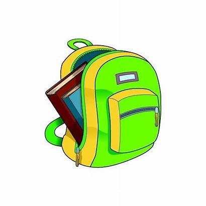 Clipart Backpack Clip Classroom Bag Books Backpacks