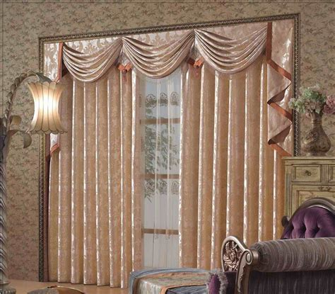 interior curtain with valance and white overblind