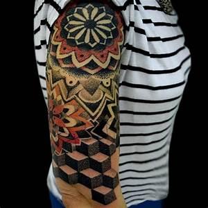 Geometrische 3d Tattoo Designs mit Bezug zu Körper Tattoo ...