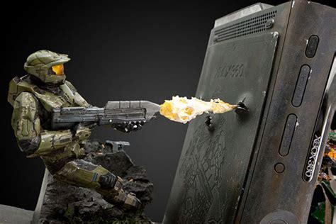 weta halo xbox 360 casemod explodes onto ebay technabob